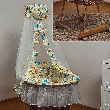 Conjunto de cama para la cesta moisés, dosel de velo+moisés con ruedas pequenas