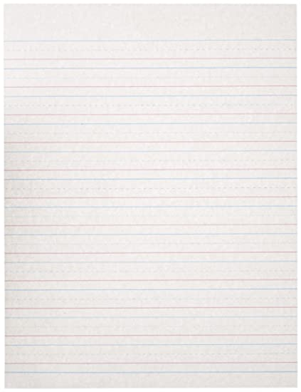 School Specialty Handwriting Paper - 1/2 Rule, 1/4 Dotted, 1/4 Skip - 8 x  10 1/2 inch - 500 Sheets