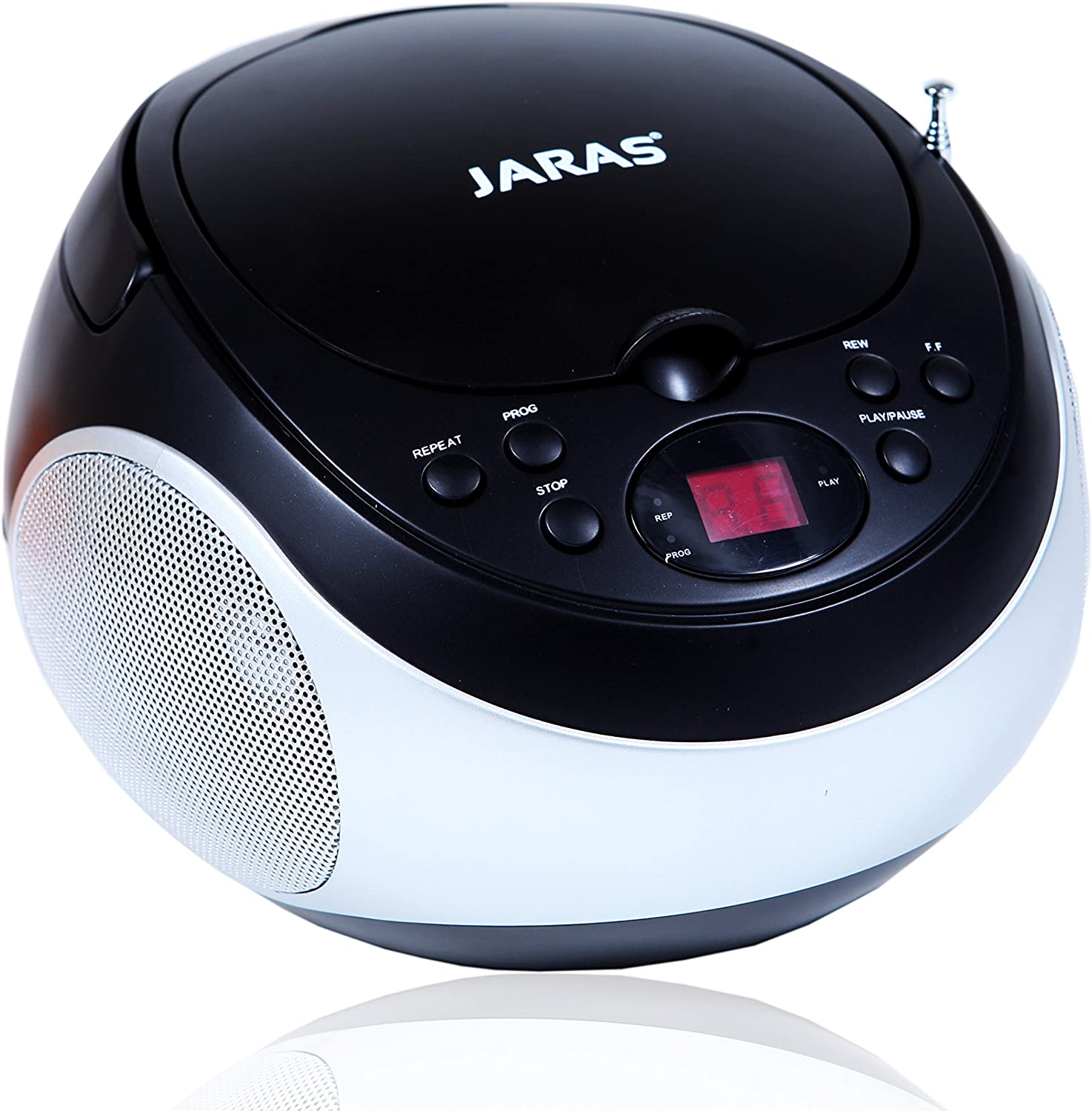 Jaras JJ-Box89 Sport Portable Stereo CD Player with AM/FM Stereo Radio and Headphone Jack