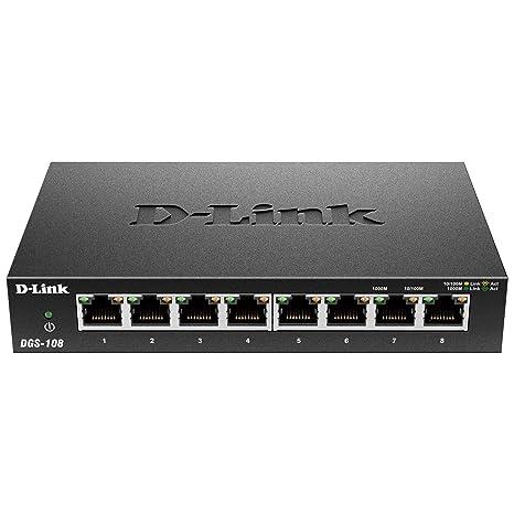 Amazon D Link 8 Port Gigabit Unmanaged Metal Desktop Switch