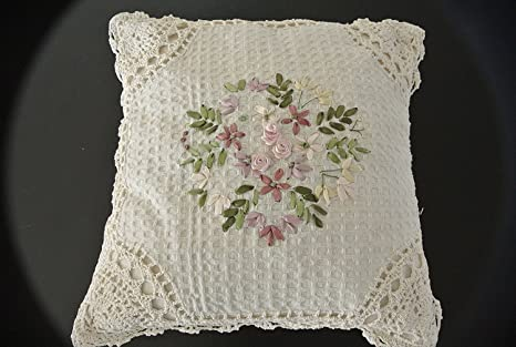 Tasleffa Crochet encaje con cinta bordado decorativo ...