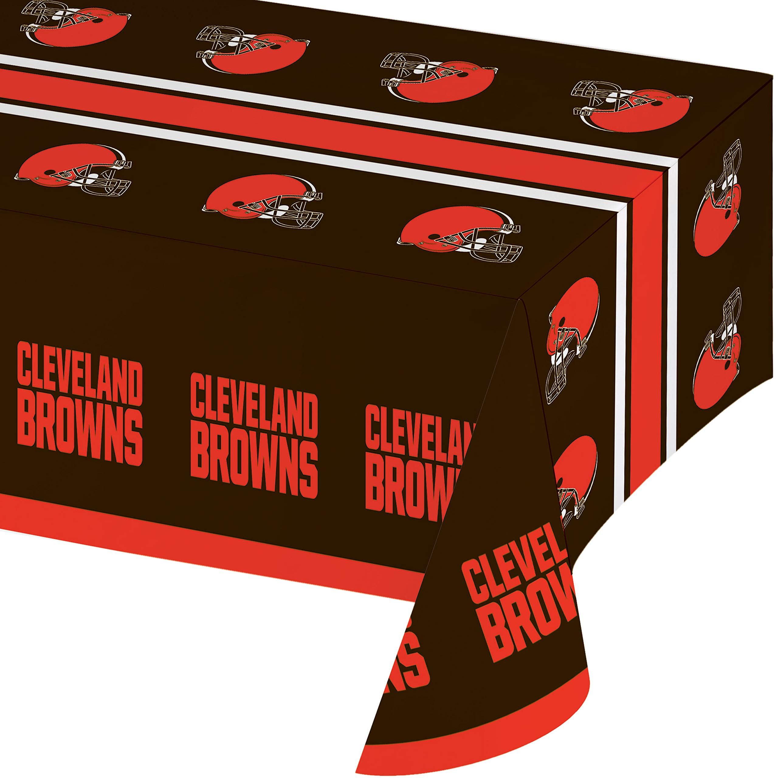 Cleveland Browns Plastic Tablecloths, 3 ct by Creative Converting