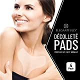 4 PACK - ElegantFully Anti Wrinkle Chest Pads - Reusable Silicone Pad for Décolleté and Wrinkle Prevention - Lightweight…