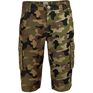 outlet for sale new high quality huge sale Camo Jacksouth Mens Cargo Combat 3/4 Casual Bermuda Shorts