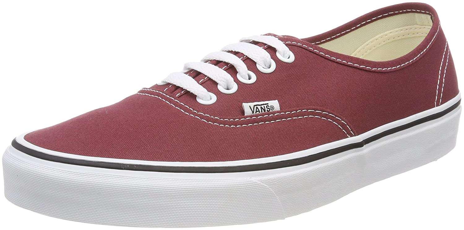 Vans Unisex-Erwachsene Authentic Sneaker  41 EU|Rot (Apple Butter/True White Q9s)