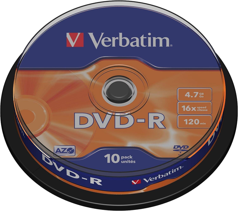 Verbatim Dvd R 16x Matt Silver 4 7gb I 10er Pack Computer Zubehör