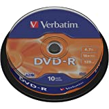 Verbatim 43523 DVD-R 16x 10pk spindle