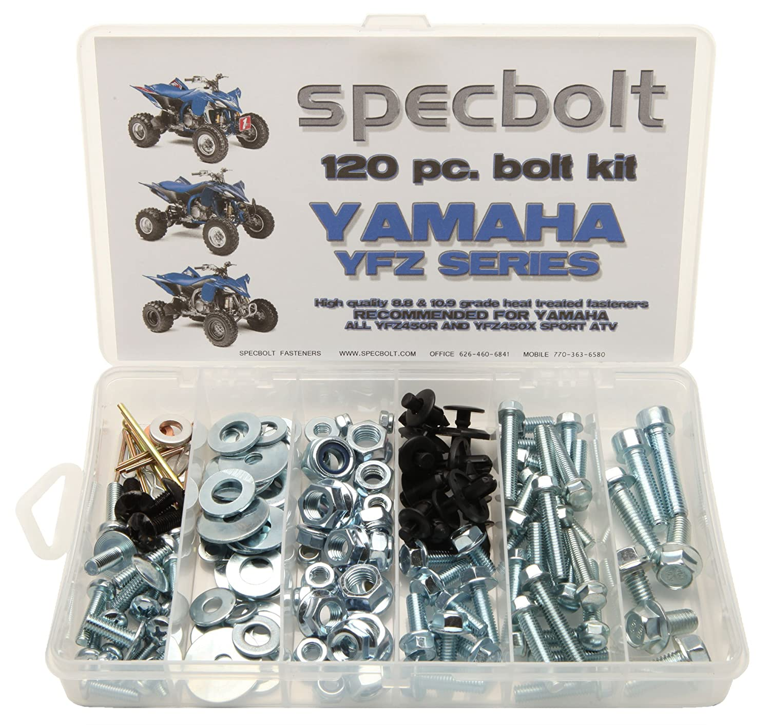 120pc Specbolt Yamaha Bolt Kit YFZ 450 YFZ450 ATV for Maintenance Upkeep &  Restoration OEM Spec Fasteners ATV Quad