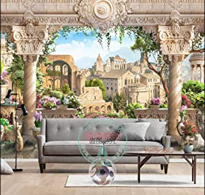 "3D Twilight Flower Garden 06 Wall Paper Wall Print Decal Wall Deco Indoor wall Murals Removable Wall Mural | Self-adhesive Large Wallpaper , AJ WALLPAPER Carly (82""x58""(WxH))"