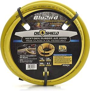 Oil Shield - Lightest, Strongest, Most Flexible Class A Rubber Air Hose (3/8