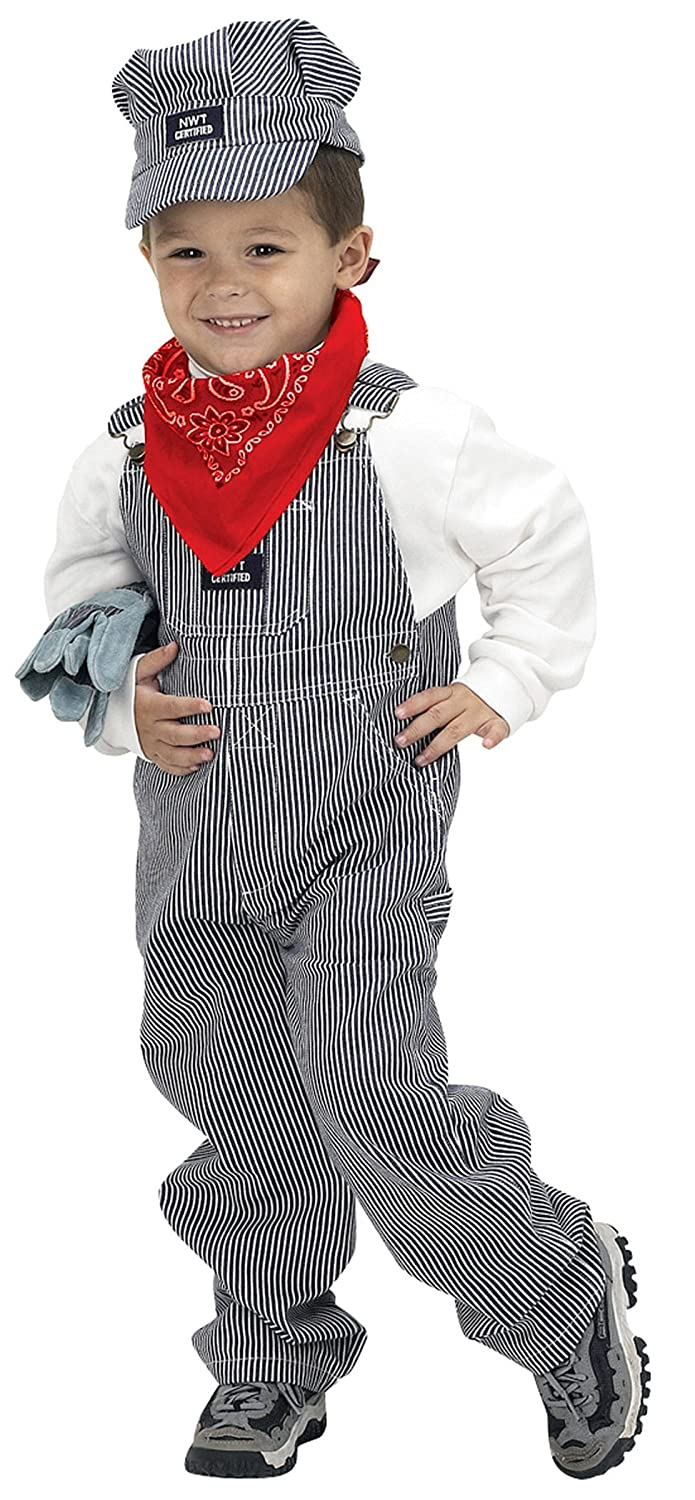 Aeromax Jr. Train Engineer Suit with cap and accessories, size 4/6 by Aeromax