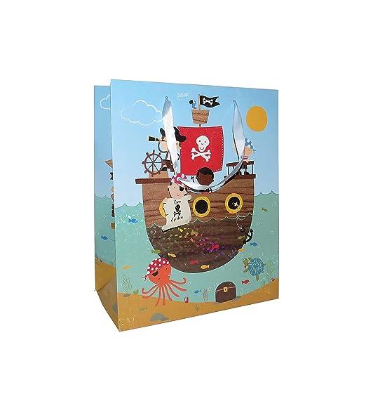 6 bolsas de papel de pirata para regalo con etiquetas de ...