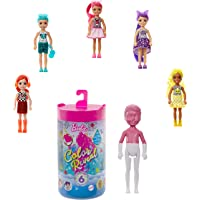 Barbie Color Reveal Chelsea Doll with 6 Surprises: 4 Mystery Bags Contain Surprise Hair Piece, Skirt, Shoes & Accessory…