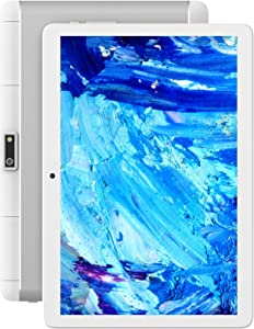 Tablet 10 inch,2021 Android 10.0, 2GB RAM, 32GB Storage, phablet wih Dual Sim Card Slots, Google Tablet Certified, 6000mAh Battery, Support 3G Phone Call, WiFi, Bluetooth, FM, GPS-Silver