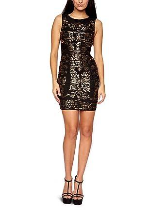 a199733a2f7f10 Lipsy JD01981 Sleeveless Women s Dress Black Gold Size 12  Amazon.co ...
