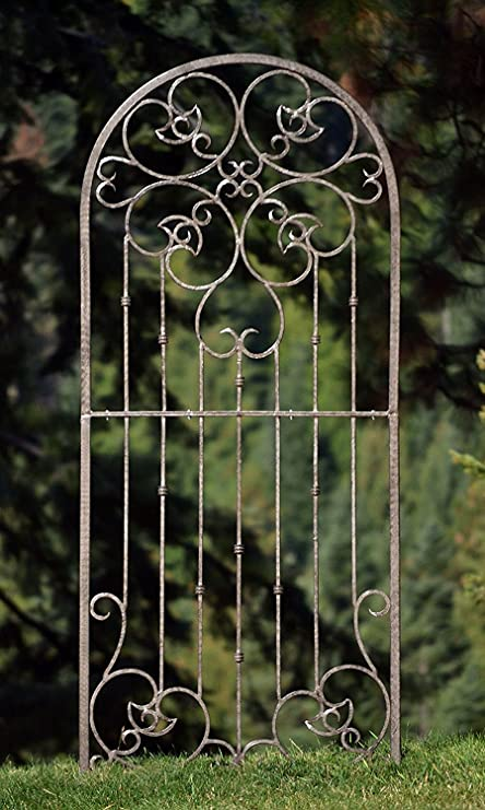 H Potter Large Garden Trellis Wrought Iron Heavy Scroll Metal Decoration  Powder Coat Finish Lawn