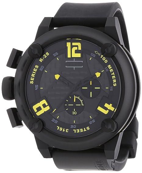 Welder K28 7104 - Reloj cronógrafo de caballero de cuarzo con correa de goma negra - sumergible a 100 metros: Amazon.es: Relojes