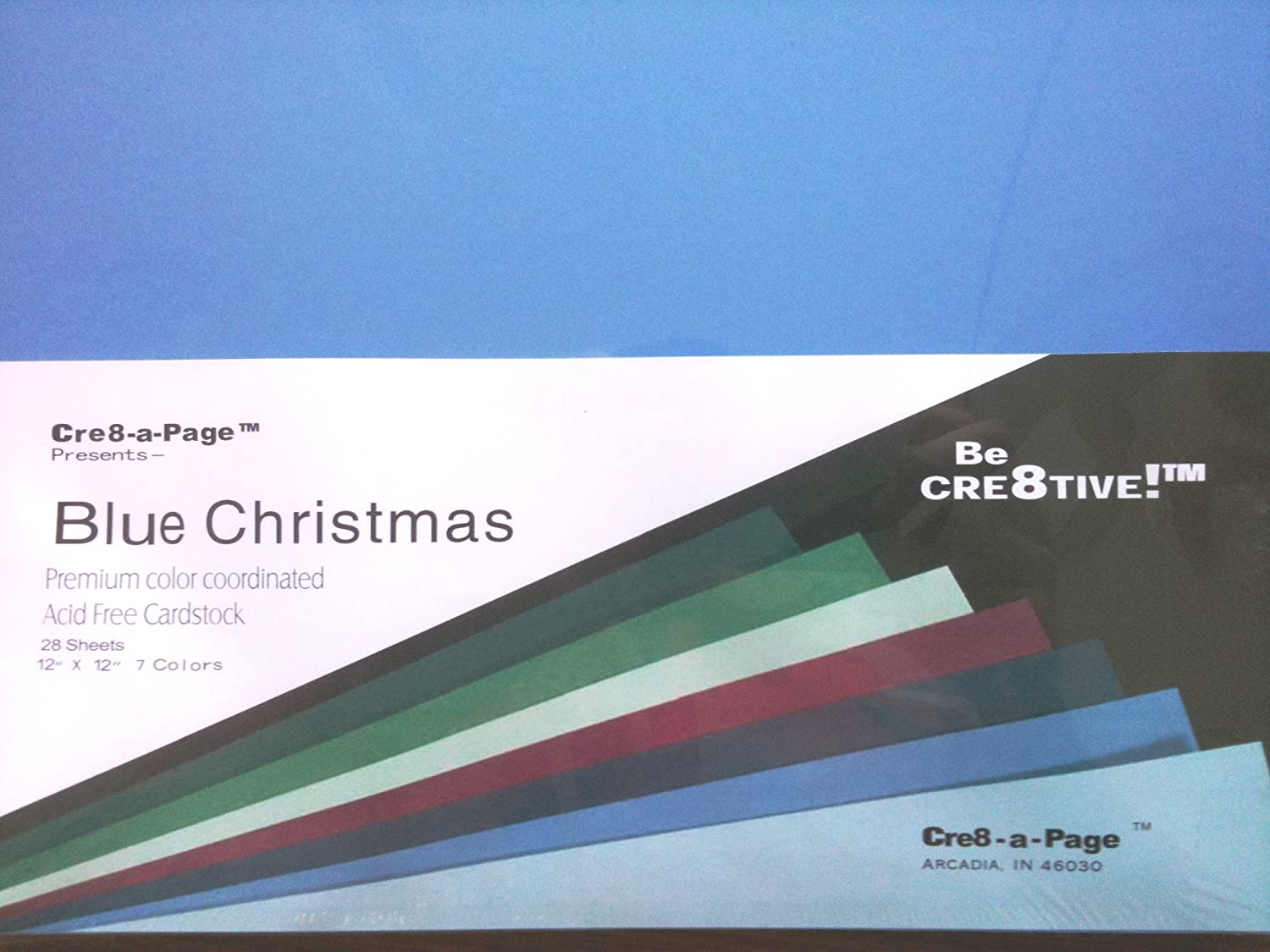 Multi colored cardstock paper - Amazon Com 12x12 Blue Christmas Cardstock Paper Multi Color Pack 28 Sheets 7 Colors Card Stock Cardstock Papers Office Products