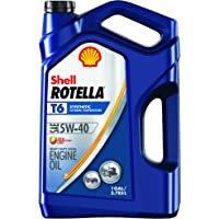Shell ROTELLA T6 5W-40 Full Synthetic Diesel Engine Oil (1-Gallon)