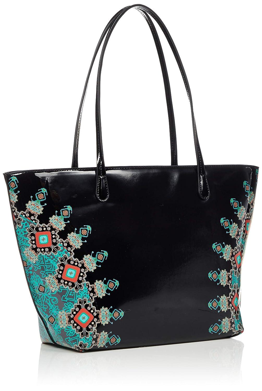 Designer VINIL GalacTIC CAPRI dragkedja handväskor svart axelväskor svart