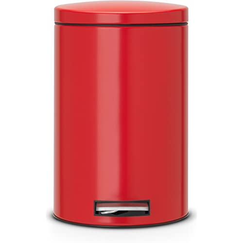 Brabantia 12 Litre Silent Pedal Bin - Passion Red