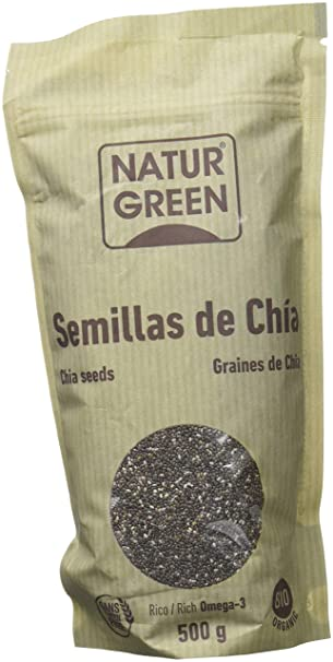 NaturGreen Semillas de Chía - Pack de 3 unidades de 500 gr