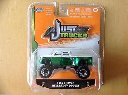 Just Chevy Trucks >> Jada Just Trucks 1 64 1999 Chevy Silverado Dooley White Green By Jada