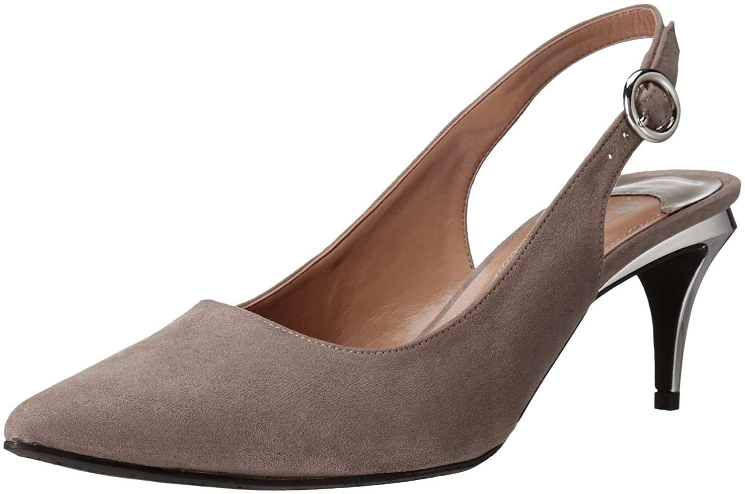 J.Renee Women's Pearla Dress Pump B01INJKX88 10.5 W US|Gray Suede