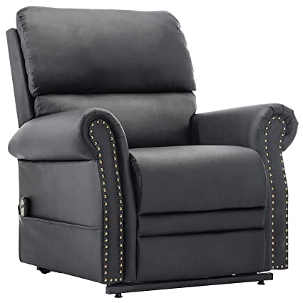 Merax Harper&Bright Designs Power Lift Chair Electric Recliner PU Leather  Reclining Sofa Chair Heavy Duty Mechanism Living Room Furniture with Remote  ...
