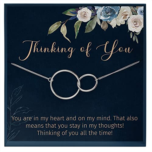 Muse Infinite Thinking of You Gifts for Long Distance Relationship Gifts Miss You Necklace for Her
