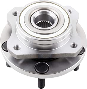 """BOXI Front Wheel Hub and Bearing Assembly fit for 1996-2007 Chrysl-er Dodge Caravan Plymouth Voyager (ONLY for 15"""", 16"""" OR 17"""" Wheels, 5 lugs wheel hubs, no ABS, 4 Bolt Flange) 513123"""