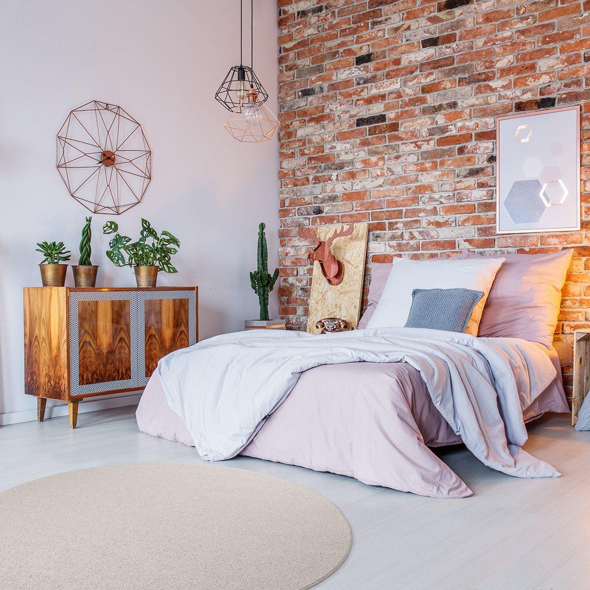 Havatex Schurwolle Teppich Shepherd rund - Farbe wählbar   100% strapazierfähige Naturfaser Wolle   für Wohnzimmer Schlafzimmer Esszimmer Büros, Farbe Beige, Größe 133 cm rund