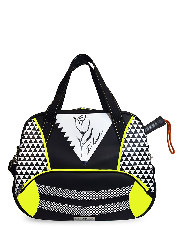 Idawen Bolsa Padel Tenis Mujer | Diseño Exclusivo | Producto Vegano, Certificado Peta, Negro