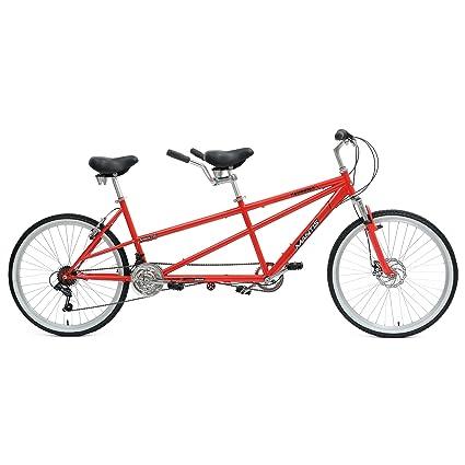 Mantis Taureno Tandem Bike, 26 inch Wheels, 18 inch Frame, Unisex, Red best tandem bikes