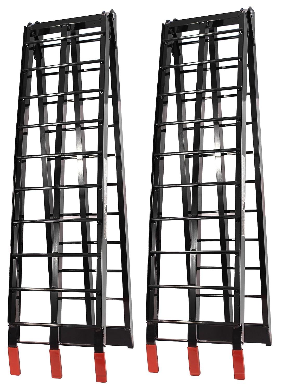 Black Aluminium Arched Folding Loading Ramps Job Pro ATV-002-B