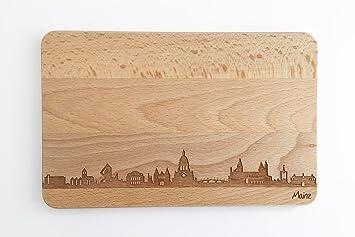 Holz Mainz brotzeitbrett mainz skyline frühstücksbrettchen aus buche holz