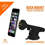 Tantra Twister Smart Universal Mobile Phone Holder with Quick Magnet Touch Technology for Windscreen, Dashboard & Table Desk (Black)