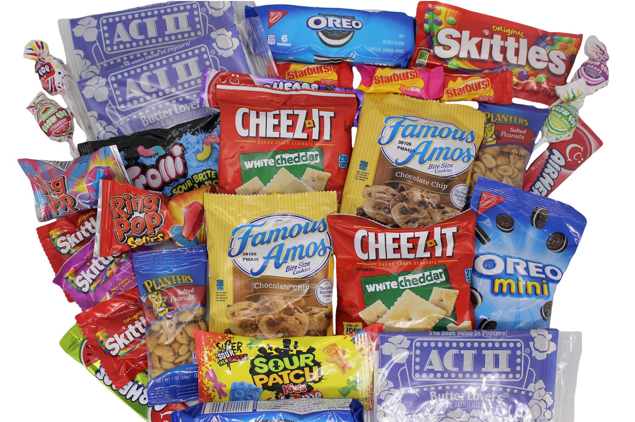 MOVIE NIGHT GIFT BASKET 30 Of Your Favorite Popcorn, Candy Cookies Crackers Perfect Birthday Box Holiday Surprised College Care Package Kids Party Family Movie Night Or A Special Date Night by Tiny Timz (Image #4)