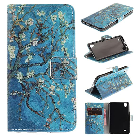 premium selection faa11 63046 LG X Power Case,LG K6P Case,LG K210 Case,XYX [Apricot Blossom Tree] PU  Leather Wallet Case Kickstand Cover With Built-in Slots Case for LG X Power  / ...