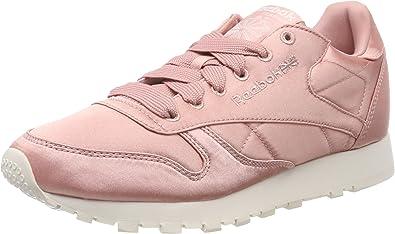 Estoy orgulloso Respetuoso dramático  Reebok Classic Leather Satin, Zapatillas Mujer: Amazon.es: Zapatos y  complementos