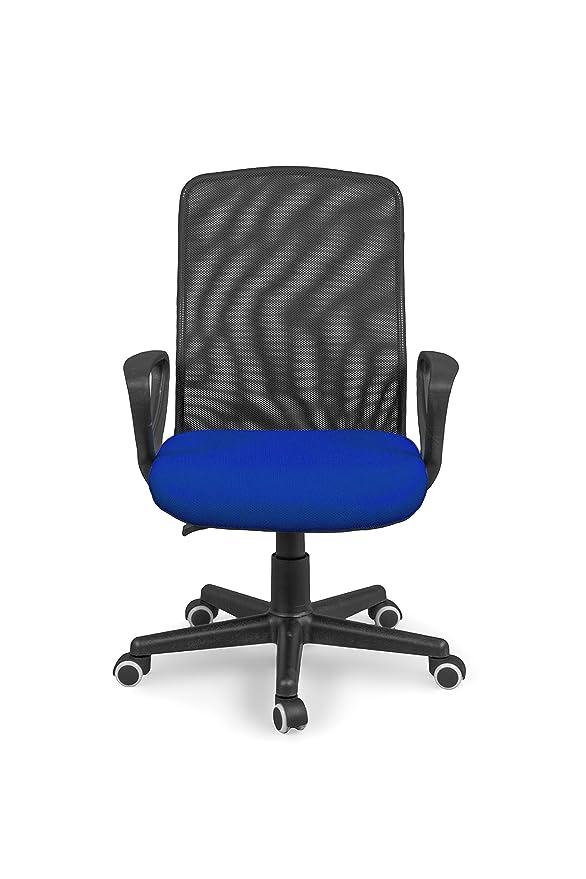 Due-home Silla de Oficina, Silla para Escritorio o Estudio, Medidas: 58x88,5x55cm↗, Coco (Azul): Amazon.es: Hogar