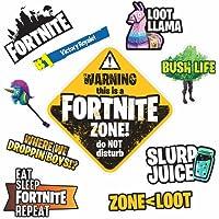 Fortnite Wall Stickers Pack - 10 Fortnite Battle Royal inspired sticker pack - Fortnite Gifts for Boys