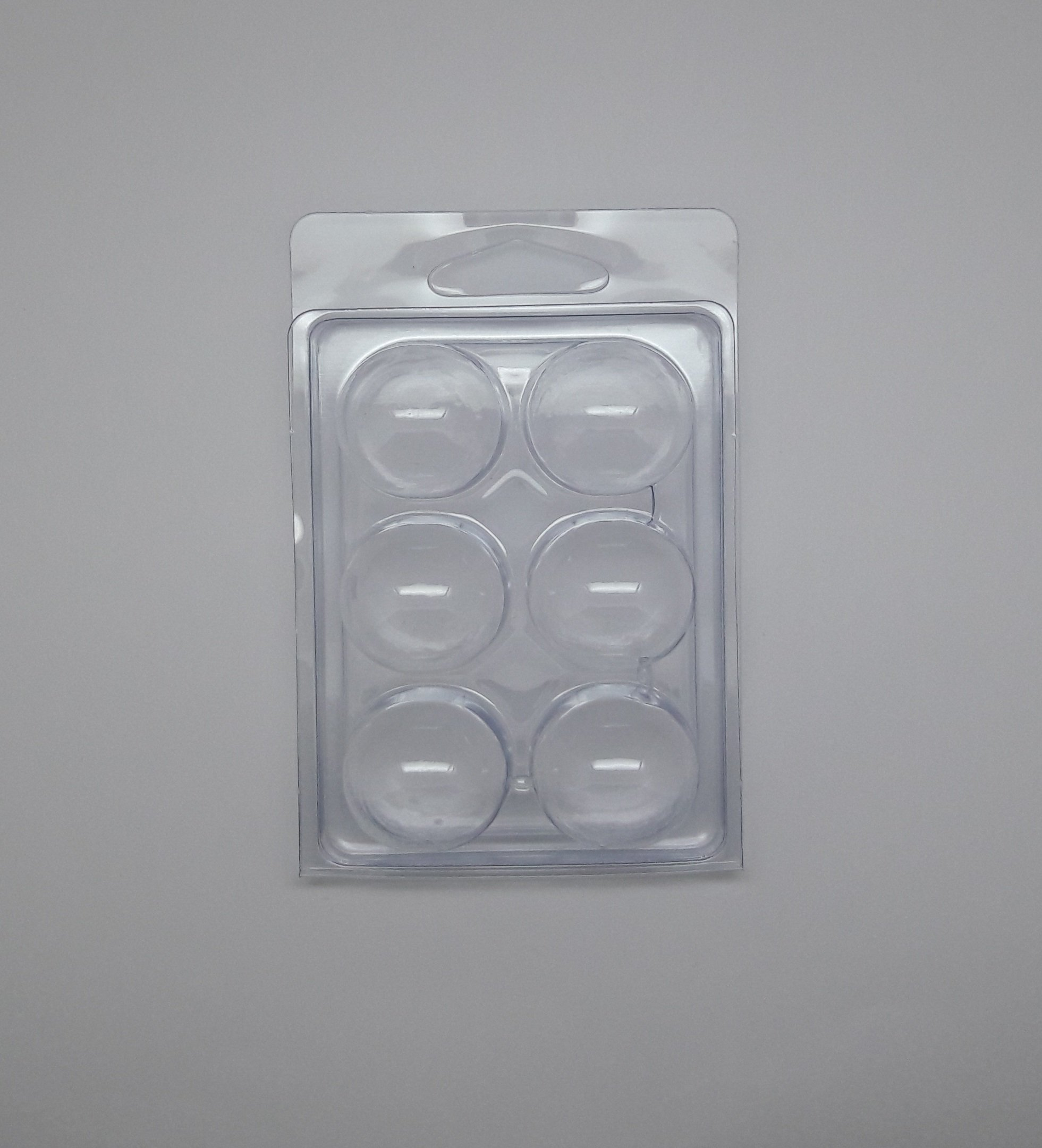 Wax MELT MOLDS - Tart Clamshell - HINGED with Round NODES (100)
