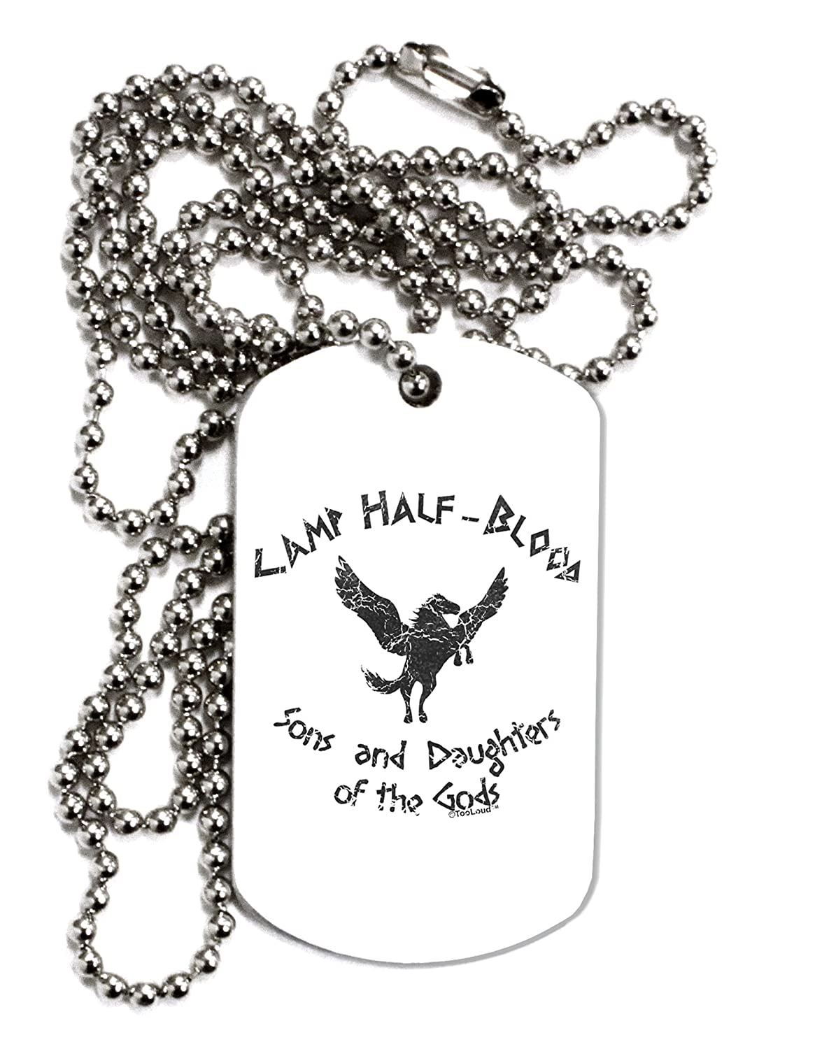 TooLoud Camp Half-Blood Sons and Daughters Adult Dog Tag Chain Necklace