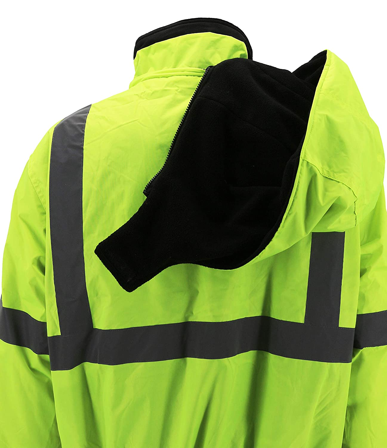 vkwear Mens Class 3 Safety High Visibility Reflective Neon Work Jacket