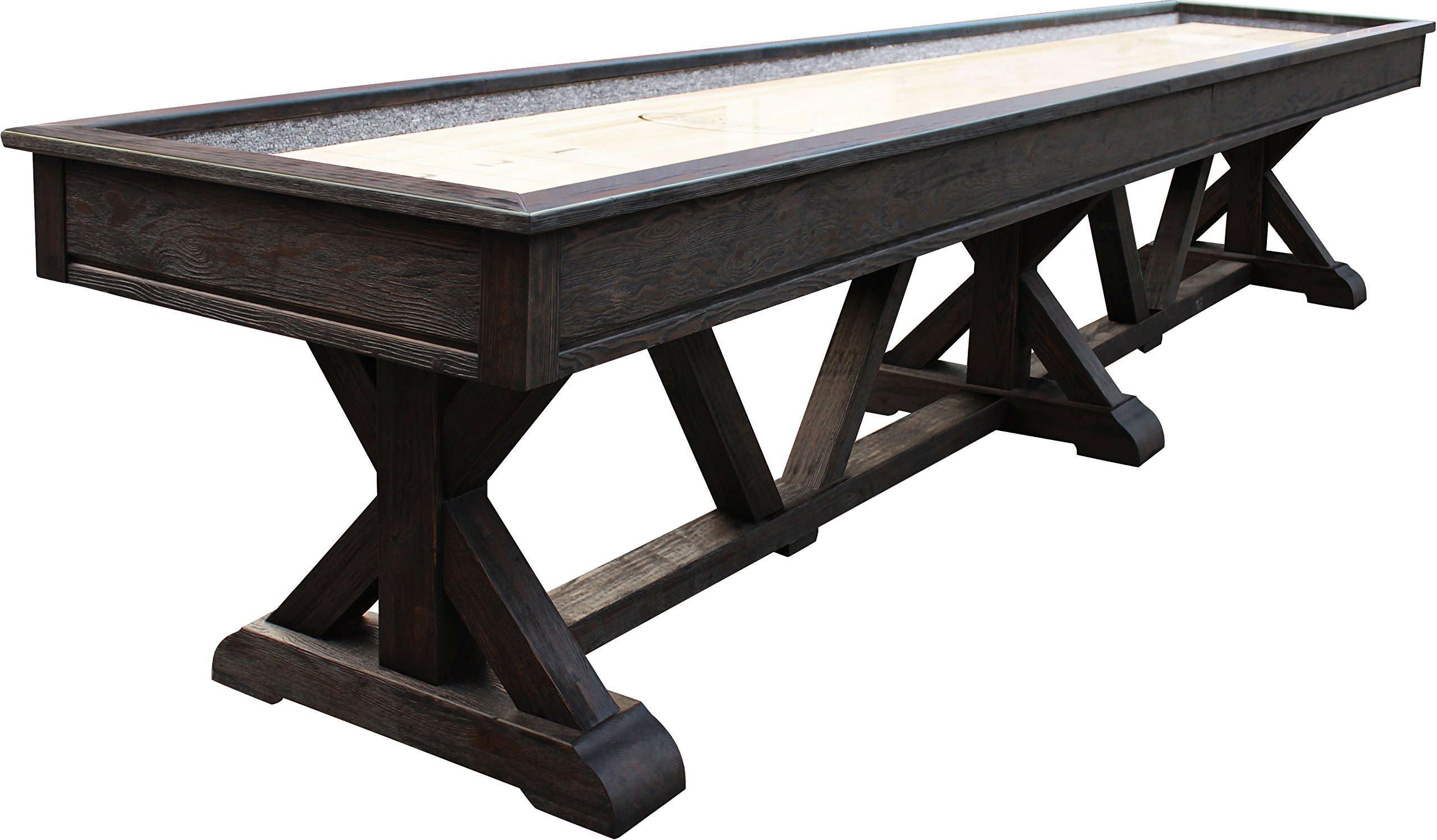 Playcraft Brazos River Weathered Black 16' Pro-Style Shuffleboard Table by Playcraft