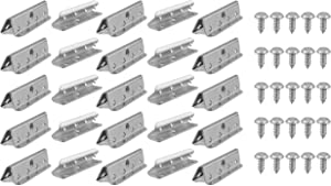 Cornucopia Metal Chair Webbings Clips (25-Pack); Replacement Upholstery Furniture Clamps with Screws Included