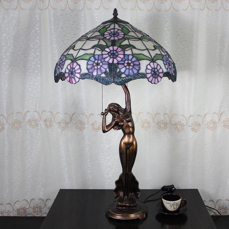 Aciano Europea Tiffany Lámpara de mesa de 16 pulgadas de la ...