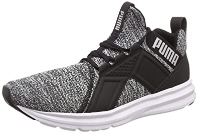 new styles 5e0f4 5c3a2 Puma Men s Enzo Knit NM Black-White-Silver Running Shoes-10 UK