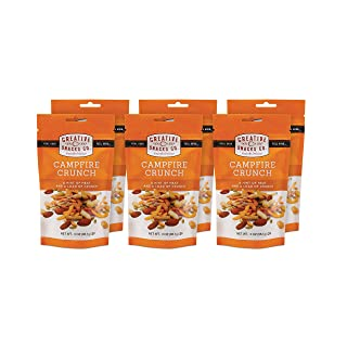 Creative Snacks Campfire Crunch Trail Mix Snack Bags, 6 Individual Packs, 3 ounces each